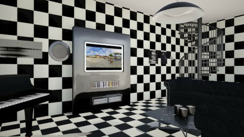 bw - Vintage - Living room - by sotiria1835