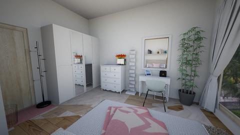Nadya Wardrobe and Wall - Minimal - Bedroom - by nadyabbrah