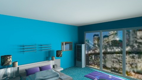 new york bedroom blue - Glamour - by frodo2002