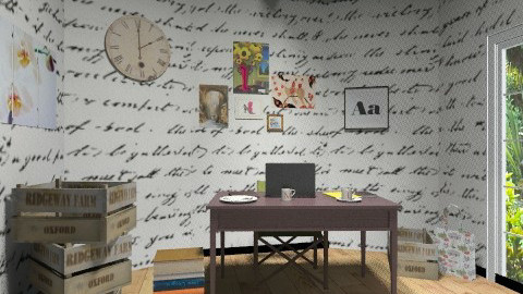 Little Writing Room - Vintage - Office - by BambooPenguin