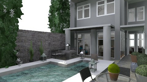 backyard modern - Modern - Garden - by naki1