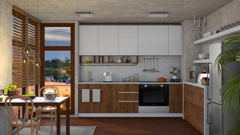 S_Small City Apartment I - Kitchen - by Shajia