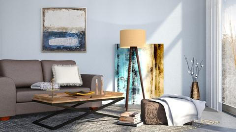 M_ Sapphire - Living room - by milyca8