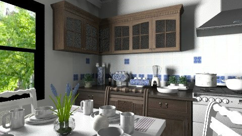 Delft Pottery Inspired - Kitchen - by Violetta V