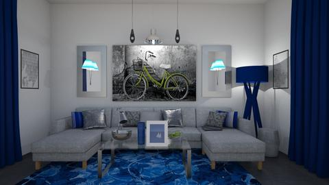 Blue Wave - Modern - Living room - by Jessica Fox