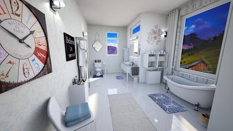 Shabby Chic Bathroom - Bathroom - by JayellaCruise