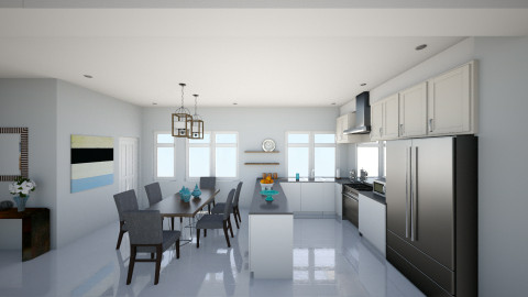 2nd flr kitchen dining v2 - Dining room - by chloedaniella