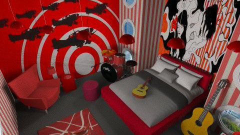 White Stripes Room - Bedroom - by unglued