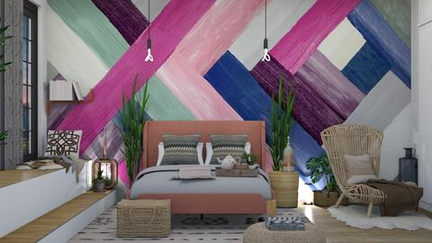 boho bedroom - Bedroom - by stef_eck