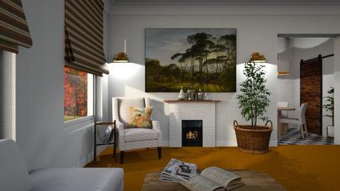 Orange Carpet - Living room - by Sarah Anjuli