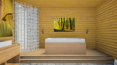 beach style bathroom - Retro - Bathroom - by mrrhoads23