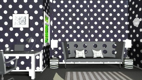 Black and White - Glamour - Living room - by Fatima15