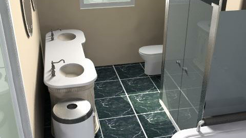 room7 - Retro - Bathroom - by tmobley88