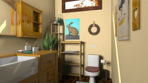 cottage half bath - Country - Bathroom - by blacknbloom
