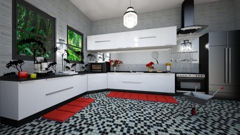 Modern kitchen - Kitchen - by ashpashly