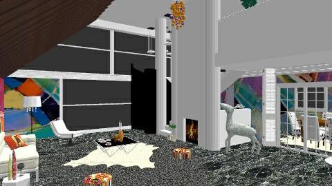 Art living room - Living room - by MonikaART