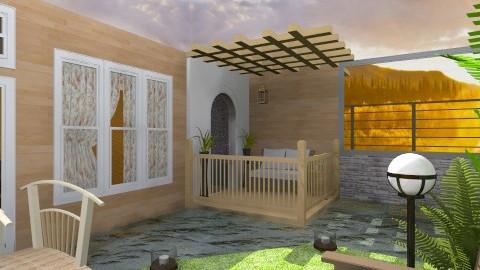 woody deck backyard - Classic - Garden - by Veny Mully
