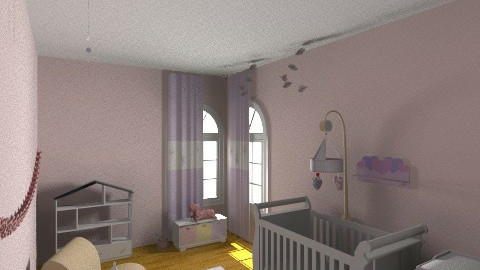 Baby Pink room - Kids room - by Caro Ferni