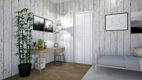Wood Walls - Bedroom - by CatLover0110
