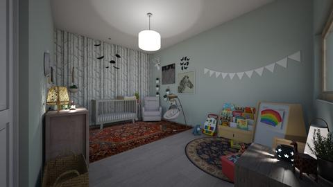 baby room  - Vintage - Kids room - by makennaf
