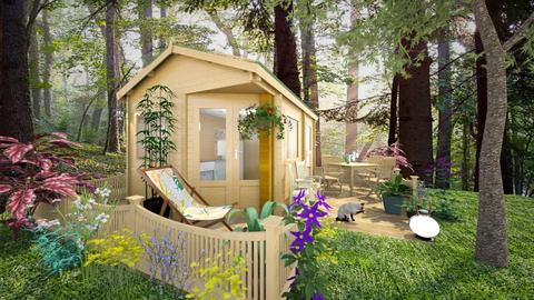 Small Cabin in the woods - Rustic - Garden - by Bibiche