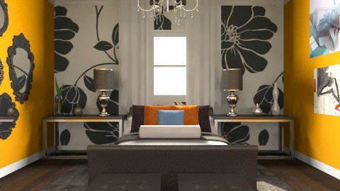 bedroom - Glamour - Bedroom - by mire roig