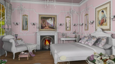 La Chambre Rose - Classic - Bedroom - by Bibiche