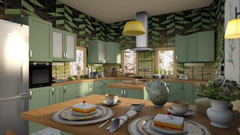 Green Mosaic - by ZsuzsannaCs