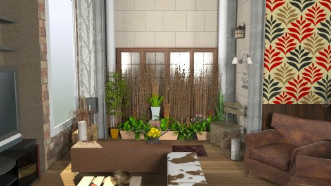 Plant & Garden - Rustic - Living room - by shelleycanuck