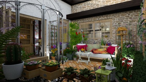 boho terrace - Eclectic - Garden - by donella