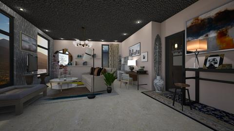 balck lines 2019 - Living room - by harshada samant
