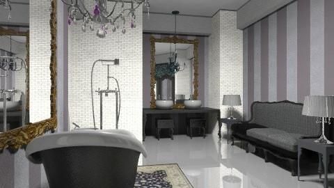 black chandelier view 02 - Bathroom - by decoart