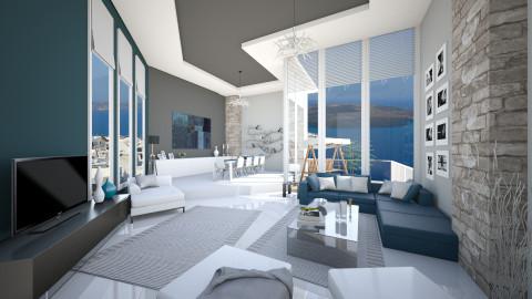 petrolgreywhite love - Modern - Living room - by Senia N