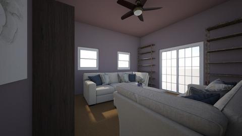 White Modern Living Room - Modern - Living room - by SmithFACS