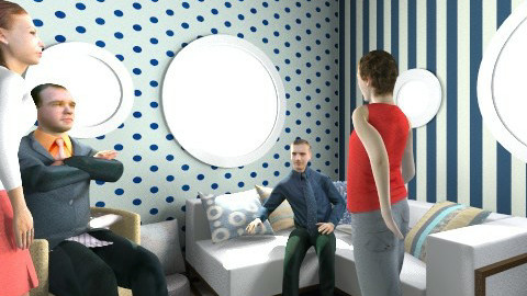 Dots and Stripes - Living room - by journalelv