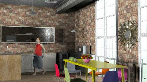 the bowery flat 2-vu kitchen diner - Eclectic - Kitchen - by kitty