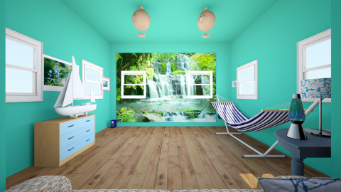 Relaxing blue room  - Eclectic - by Jillian Callis