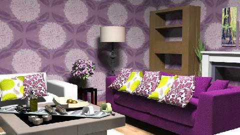 purpleena - Living room - by samahir