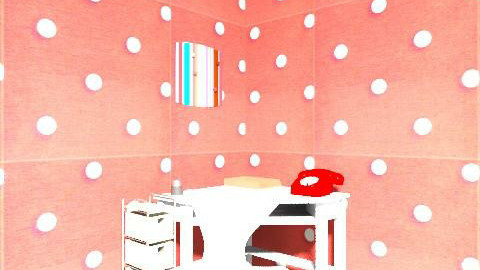 Polka dots - Feminine - Living room - by hendersoon_kiaah