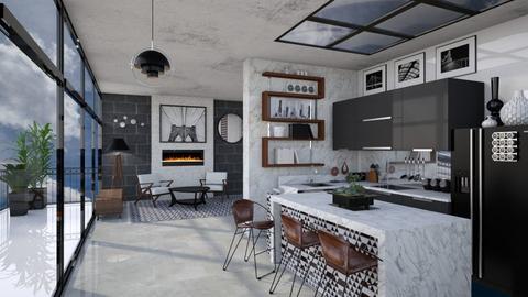 Mid Century Modern Mono - Kitchen - by AlocinB