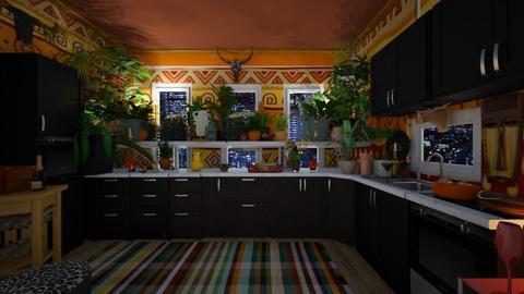 urban jungle kitchen 1a - by deemuri_co