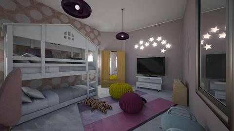 twins bedroom - Kids room - by Angela Quintieri