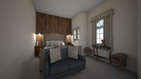 rustic bedroom - Rustic - Bedroom - by Orangova