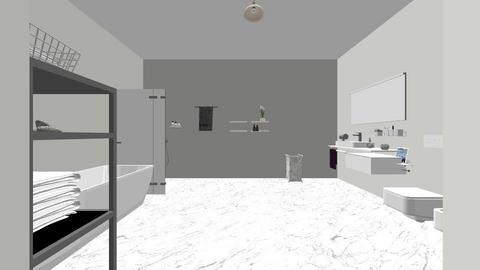 bathroom - Modern - Bathroom - by cambreemore3467