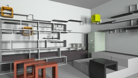 Abract_Futuristic Kitchen - Minimal - Kitchen - by Designerloft
