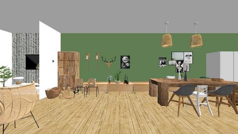 eerste ontwerp woonkamer - Living room - by ilse1986