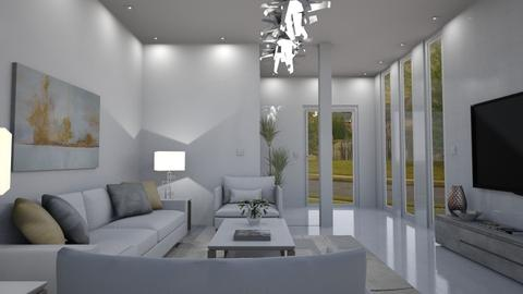 White Room 3 - Living room - by GraceKathryn