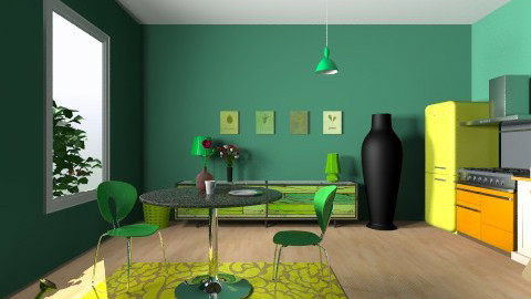 Green World - Vintage - Kitchen - by Noella Louisy