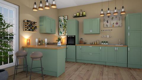 Green Kitchen - Kitchen - by elle rose
