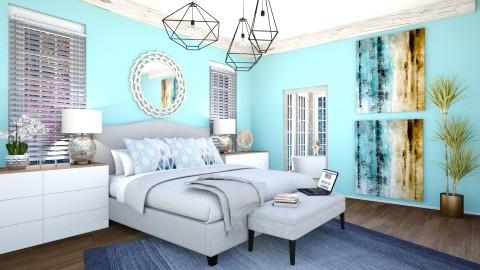 Blue bedroom  - Bedroom - by dddare